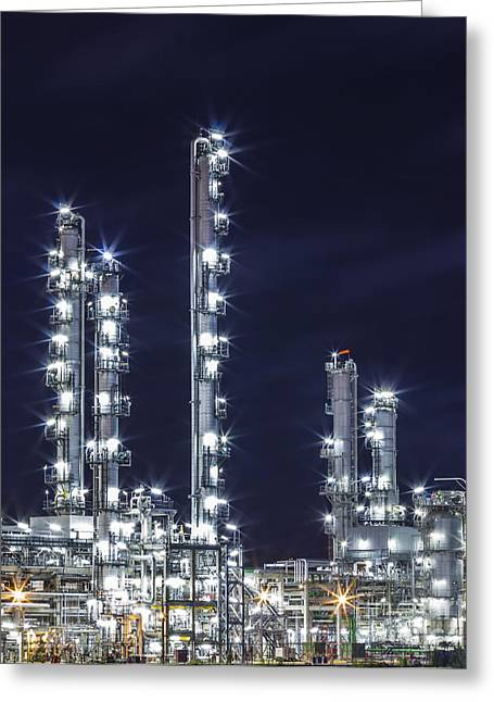 Oil Refinery Industry Greeting Card