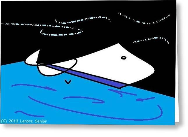 Oil Spill Greeting Card by Lenore Senior