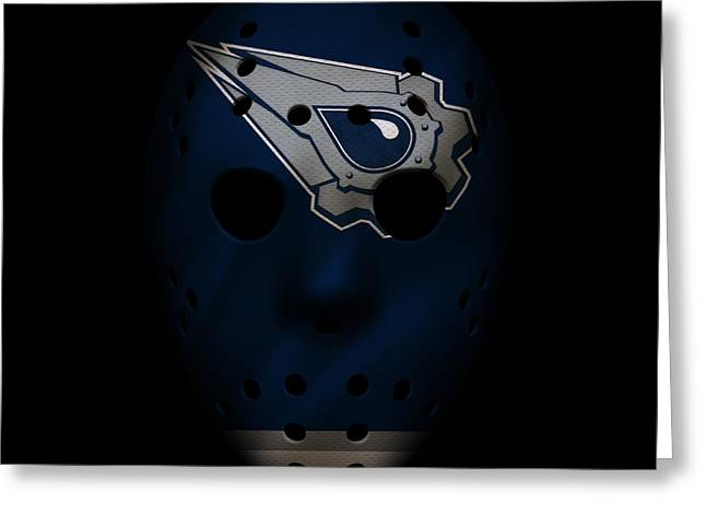 Oilers Jersey Mask Greeting Card