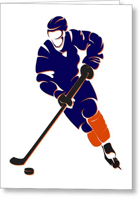 Oilers Shadow Player Greeting Card