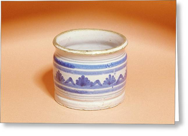 Ointment Pot Greeting Card by Science Photo Library