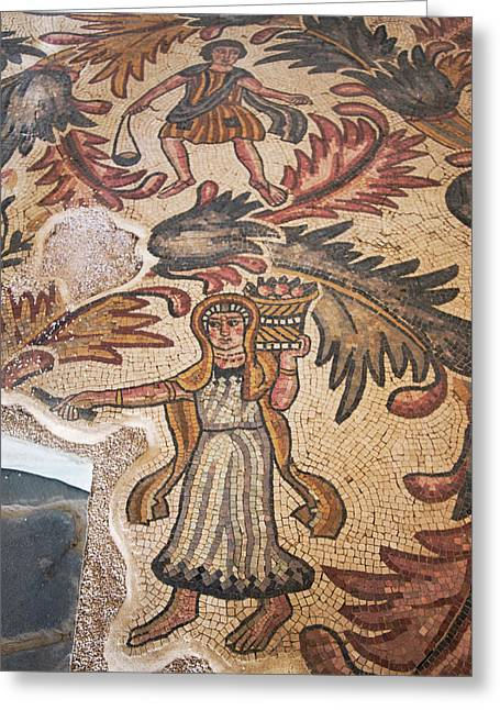 Old Baptistery Floor Mosaic In Moses Greeting Card by Keren Su