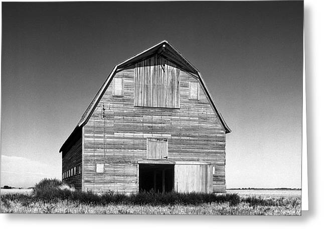 Old Barn Greeting Card by Donald  Erickson