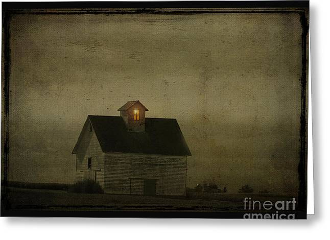 Old Barn Greeting Card by Jim Wright