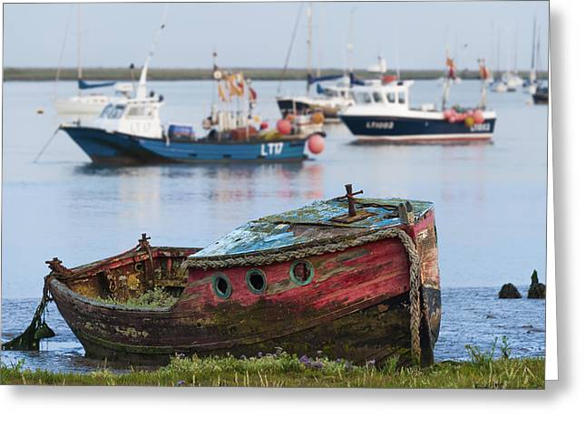 Old Boat Greeting Card by Svetlana Sewell