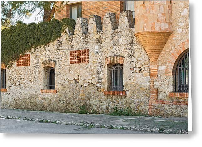 Old Buildings In Codorniu Winery In Sant Sadurni D'anoia Spain Greeting Card