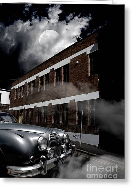 Old Car Near Building Greeting Card by Jorgo Photography - Wall Art Gallery