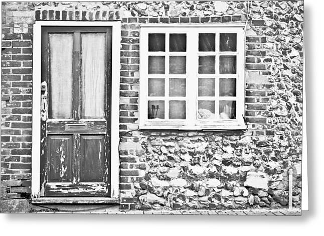 Old Cottage Greeting Card by Tom Gowanlock