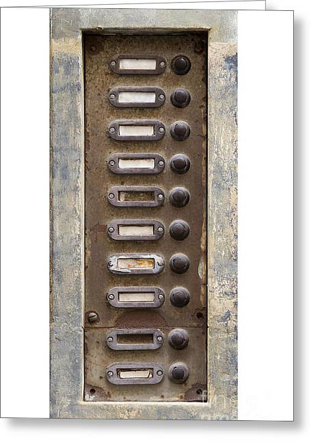 Old Doorbells Greeting Card by Michal Boubin