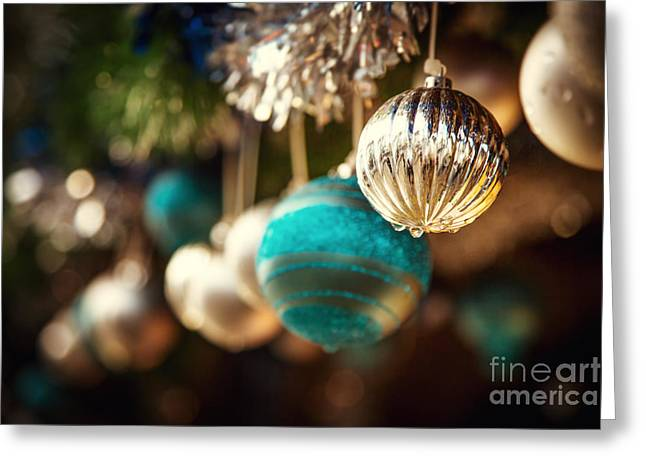 Old Fashioned Christmas Decorations Greeting Card