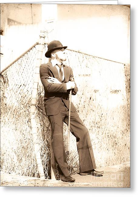 Old Fashioned Gentleman Greeting Card by Jorgo Photography - Wall Art Gallery