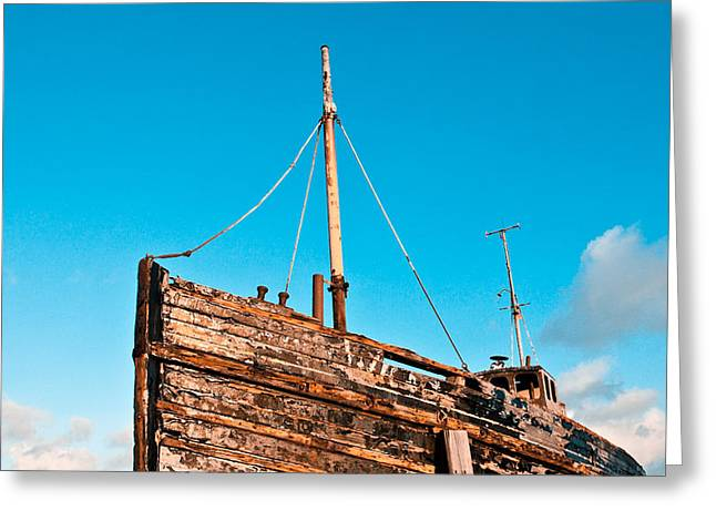Old Fishing Boat Greeting Card by Tom Gowanlock