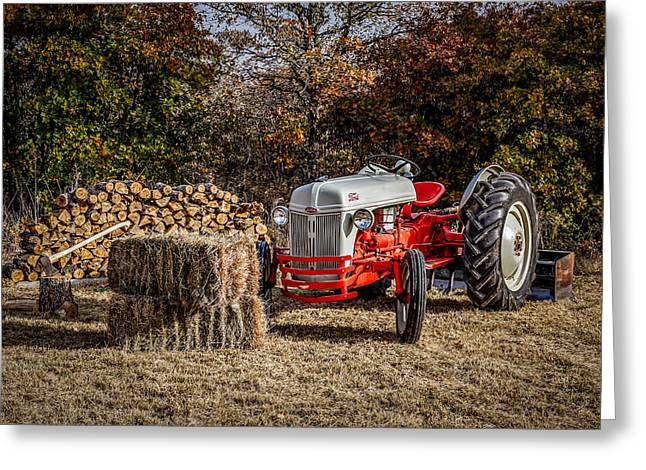 Old Ford Tractor Greeting Card