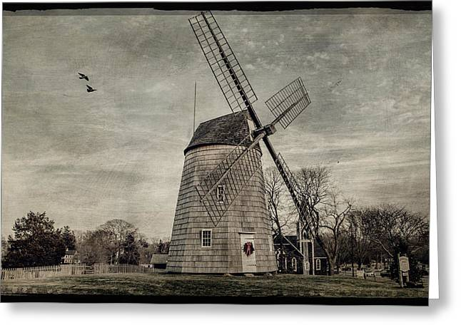 Old Hook Windmill Greeting Card