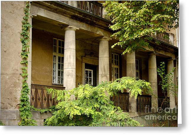 Greeting Card featuring the photograph Old Hospital In Berlin Buch by Art Photography