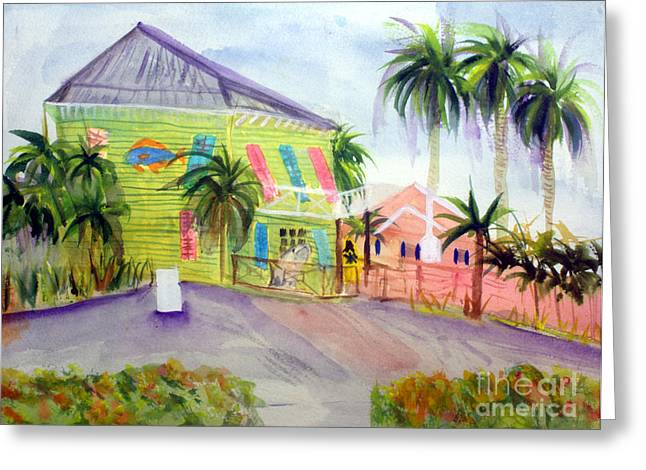Old Key Lime House Greeting Card