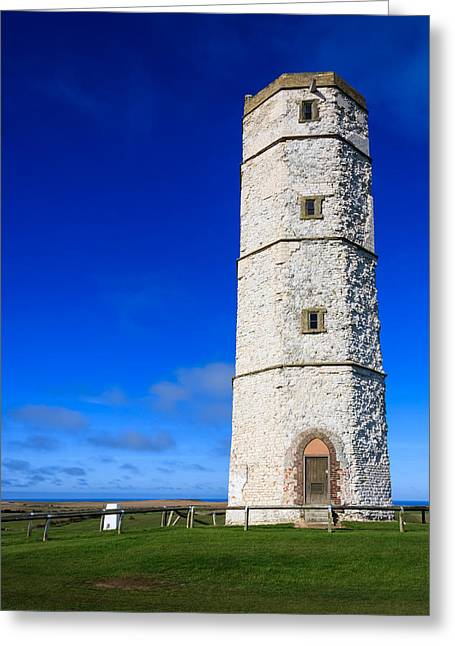 Old Lighthouse Flamborough Greeting Card