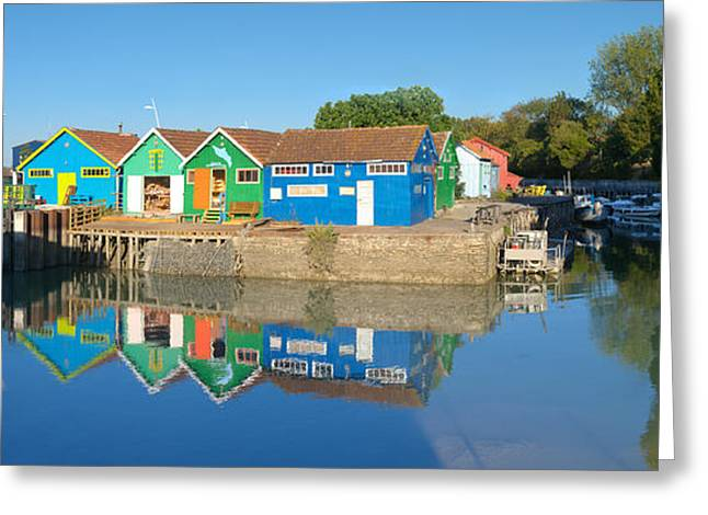Old Oyster Farmers Shacks, Le Chateau Greeting Card by Panoramic Images