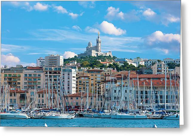 Old Port Of Marseille Greeting Card by Gurgen Bakhshetsyan
