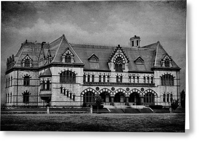 Old Post Office - Customs House B/w Greeting Card by Sandy Keeton