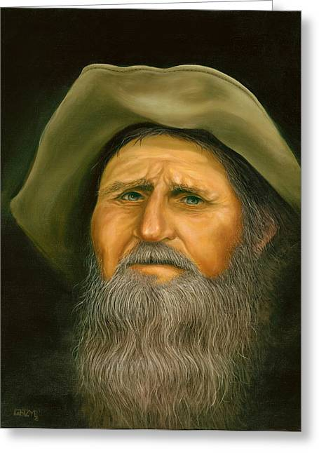 Old Prospector Painting By Steve Grzyb