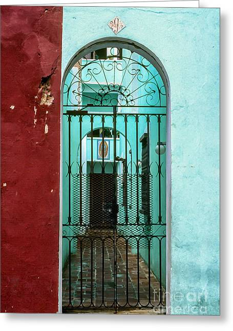 Old San Juan Puerto Rico Greeting Card by Thomas R Fletcher