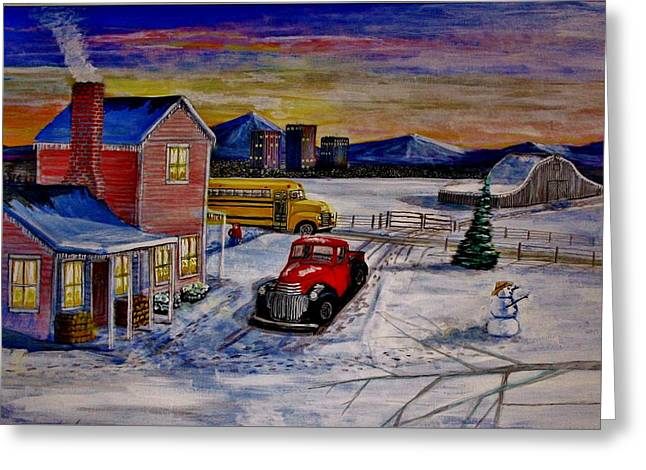 Old School Days. Greeting Card by Larry E Lamb