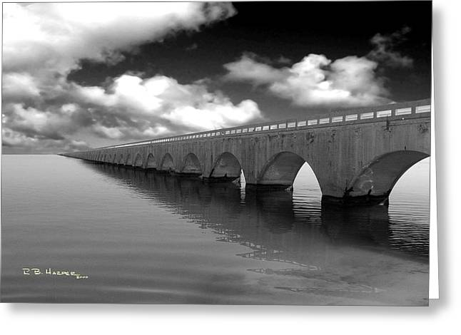 Old Seven Mile Bridge Florida Keys  Greeting Card