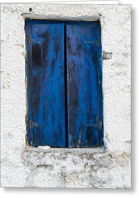 Old Shutters Greeting Card