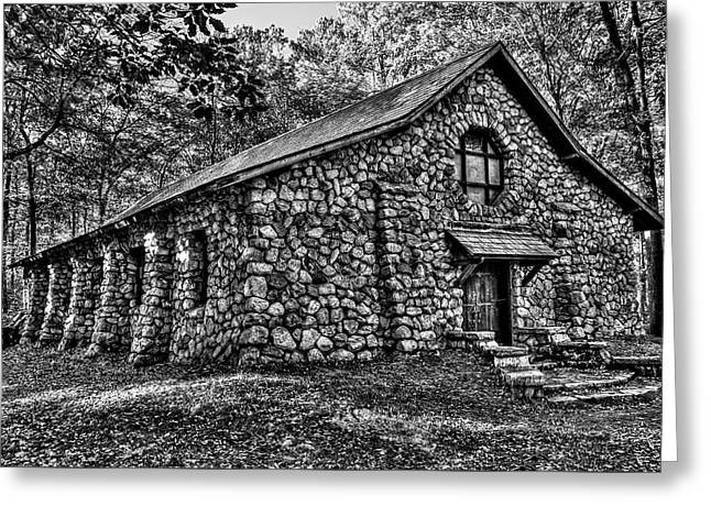 Old Stone Lodge Greeting Card by Anthony Sacco