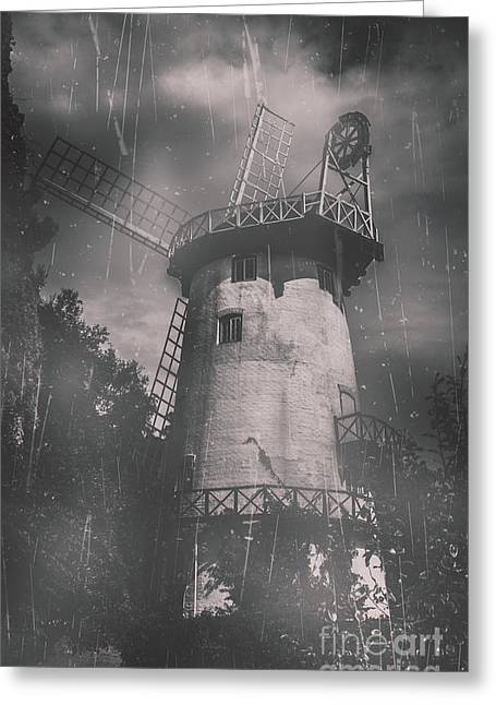 Old Tower Mill Building. Historic Fine Art Photo Greeting Card
