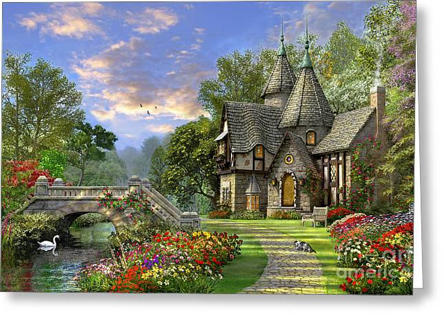 Old Waterway Cottage Greeting Card