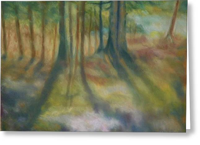 On Mossy Ground II Greeting Card by Shirley Moravec