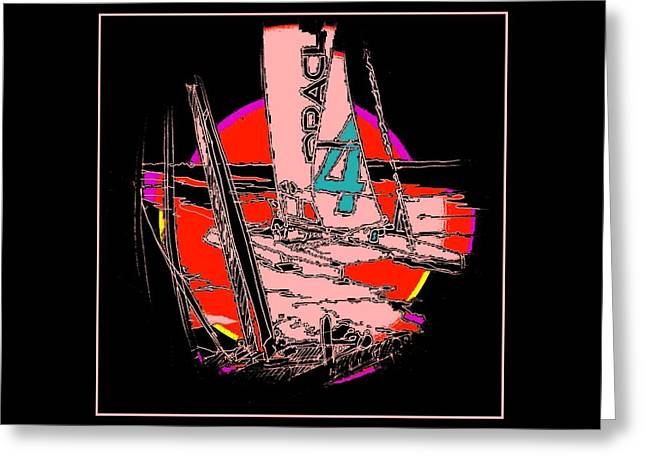 On The Bay 2 Greeting Card by Andrew Drozdowicz