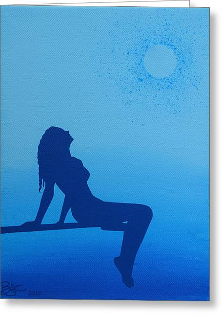 Once In A Blue Moon Greeting Card by Lance Bifoss