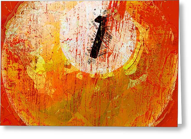 One Ball Billiards Abstract Greeting Card by David G Paul