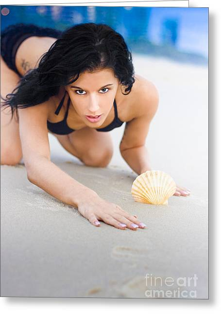 One With The Beach Greeting Card