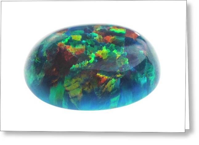 Opal Greeting Card by Science Photo Library