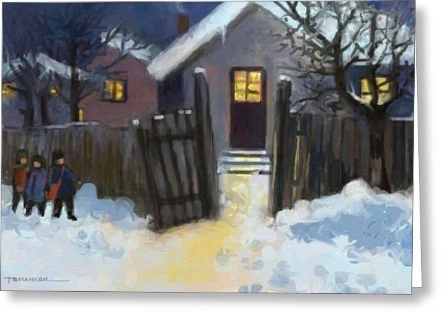 Open Door To Carol Greeting Card by Tancau Emanuel