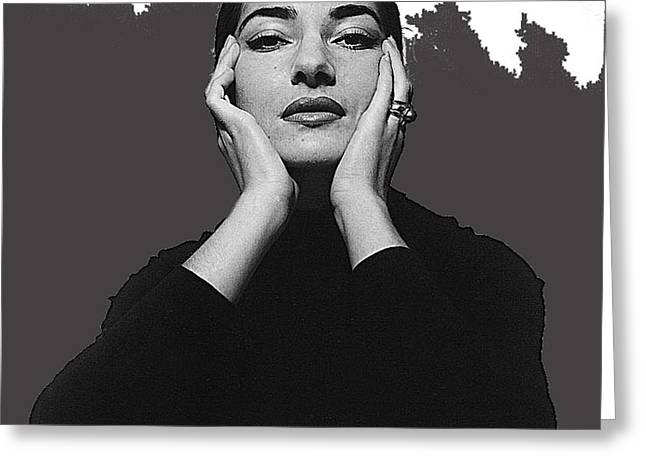 Opera Singer Maria Callas  Cecil Beaton Photo No Date-2010 Greeting Card by David Lee Guss