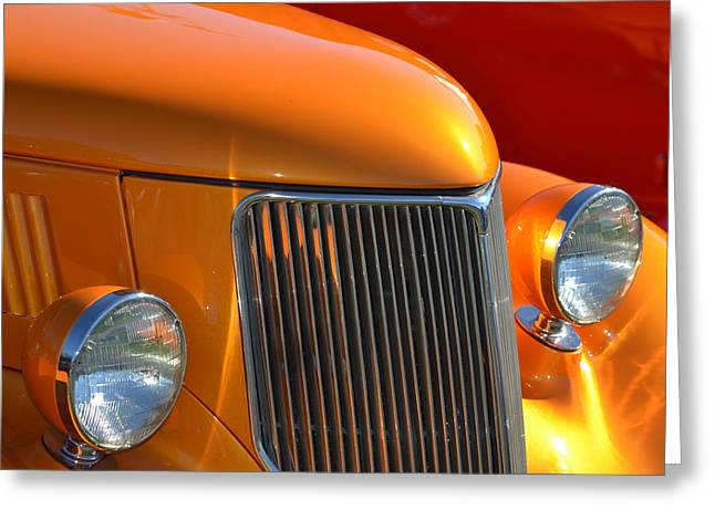Orange Hotrod Greeting Card