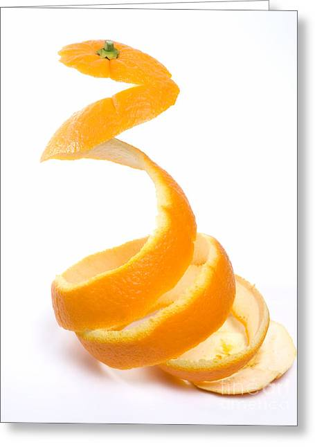 Orange Peel Greeting Card by Sinisa Botas