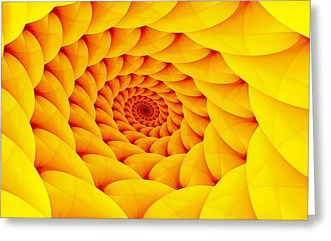 Yellow Pillow Vortex Greeting Card