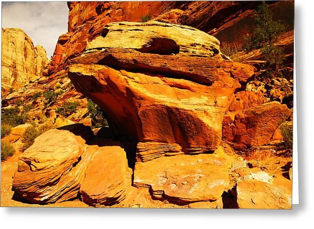 Orange Rock Greeting Card by Jeff Swan