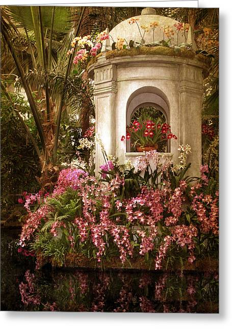Orchid Garden Greeting Card