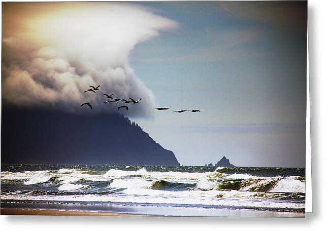 Greeting Card featuring the photograph Oregon Coast  by Aaron Berg