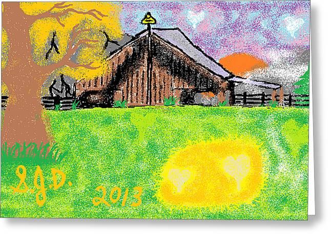 Oregon Greeting Card by Joe Dillon