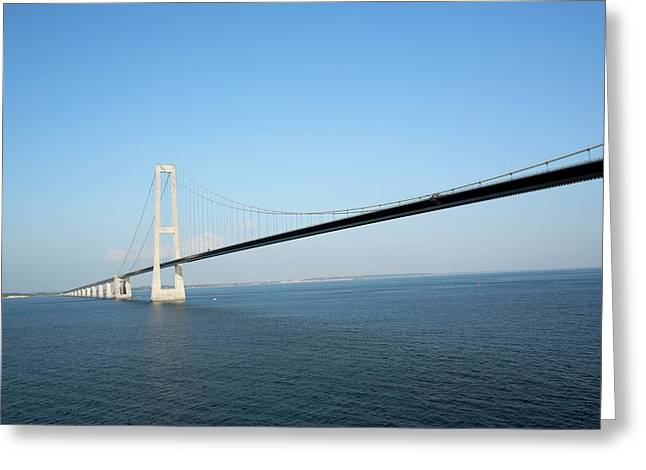 Oresund Bridge Greeting Card by Adam Hart-davis