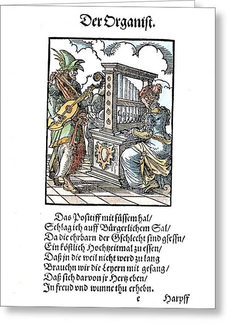 Organist, 1568 Greeting Card by Granger