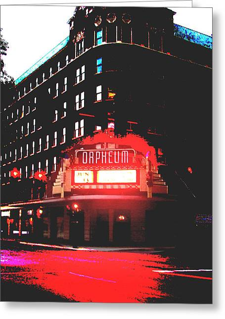 Orpheum Theater  Greeting Card